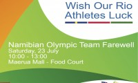 NAMIBIAN OLYMPIC TEAM FAREWELL AT MAERUA MALL